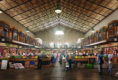 The redevelopment of Scarborough Market